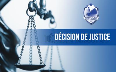 Communiqué | Décision de justice