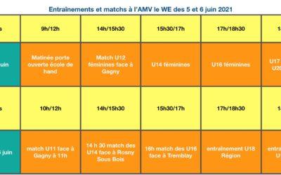 Activités du Week-end du 5 & 6 Juin